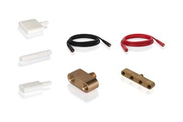 Kabel und Pinselhalter