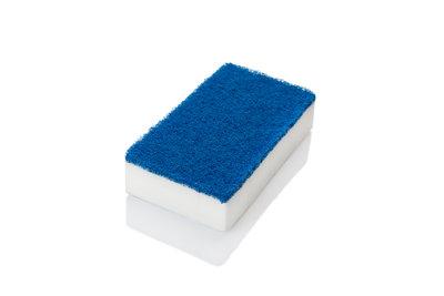 Doppelseitiger Schwamm – weiß / blau
